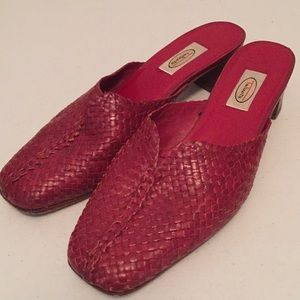Talbots Woven  leather mules shoes